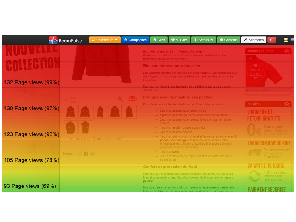 Scroll-heatmap