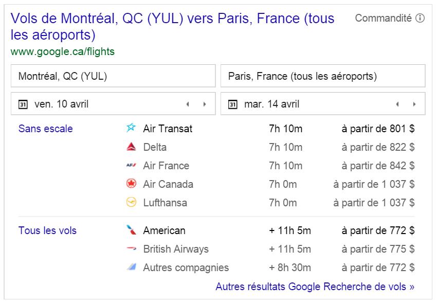 service-comparateur-vol-google
